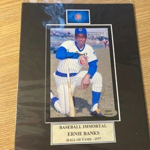 Ernie Banks signed photo